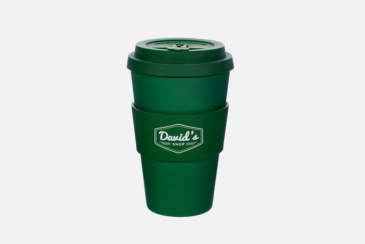 David's Shop Reusable Cup - Solid Green