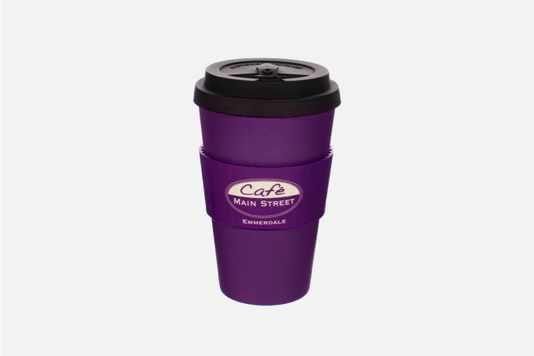 Café Main Street Reusable Cup - Purple
