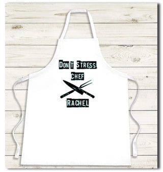 Don't stress the chef personalised BBQ apron