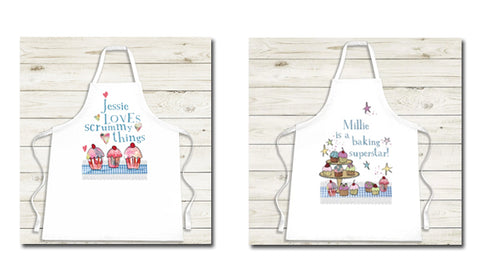 Fun personalised aprons from Cookify