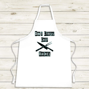 Don't Stress Chef Apron - Personalised Gift