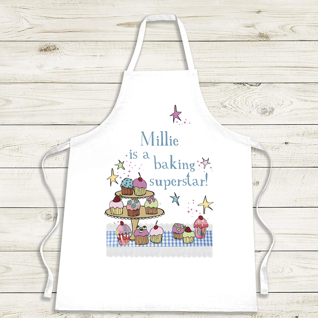 Personalised Baking Superstar Apron