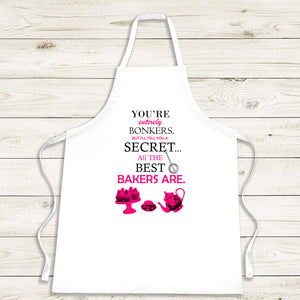 You're Entirely Bonkers Baking Apron - Personalised Gift