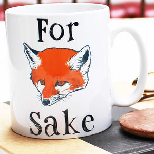 For Fox Sake Mug - Fun retro mug