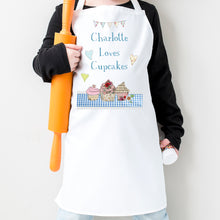 Load image into Gallery viewer, Pesonalised Loves Cupcakes Apron