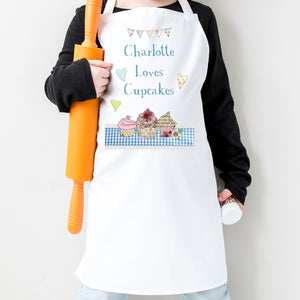 Pesonalised Loves Cupcakes Apron
