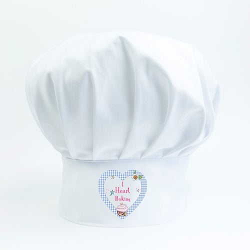 I Heart Baking Chef Hat  - Original Valentines Gift for Cooks