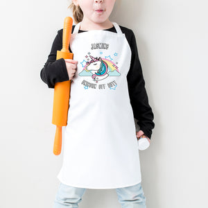 Unicorn Off Duty Personalised Apron - Personalised Kids Gift