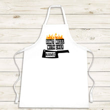 Load image into Gallery viewer, Don't Mess With Chef Apron - Fun Personalised Gift