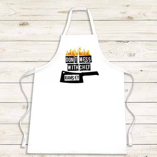 Don't Mess With Chef Apron - Fun Personalised Gift