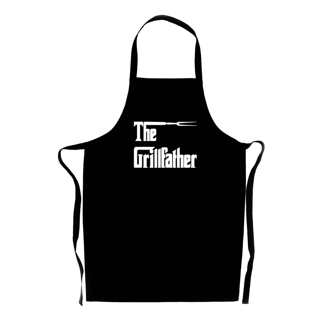 Grill Father Black Apron- Great Dad's Present