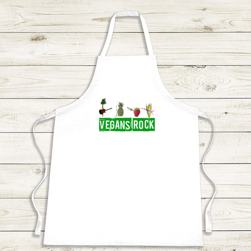Vegan apron, perfect gift for vegans. Fun and quirky vegan gift.