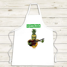 Load image into Gallery viewer, Vegans Rock Cooking Apron - Personalised Vegan Gift