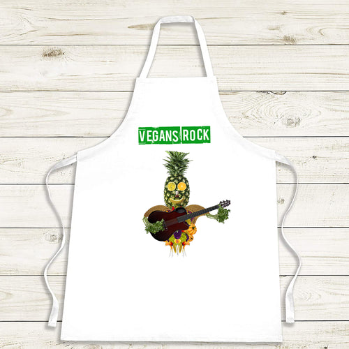 Vegans Rock Cooking Apron - Personalised Vegan Gift