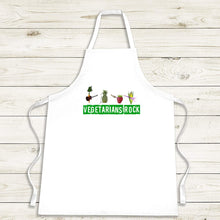 Load image into Gallery viewer, Vegetarian Apron 'Vegetarians Rock Group'