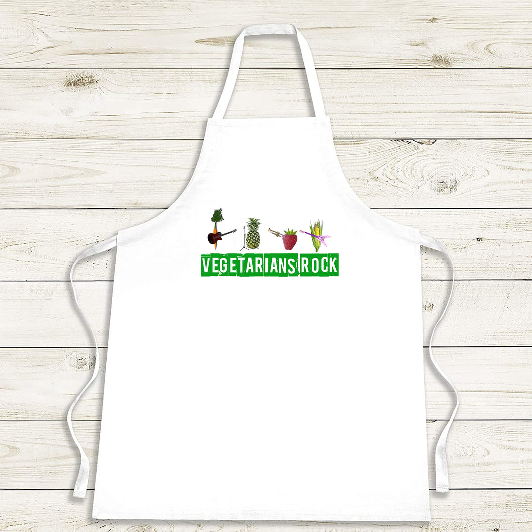 Vegetarian Apron 'Vegetarians Rock Group'