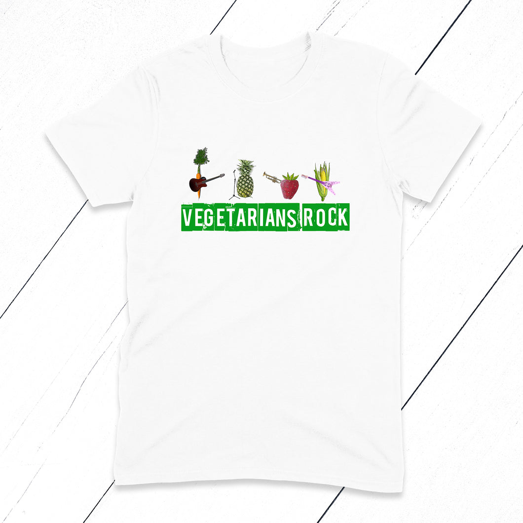 A fresh and fun T-shirt for all your favourite Vegetarian friends, family and teens.
