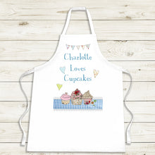 Load image into Gallery viewer, Personalised Loves Cupcakes Apron