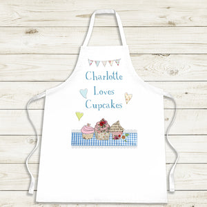 Personalised Loves Cupcakes Apron
