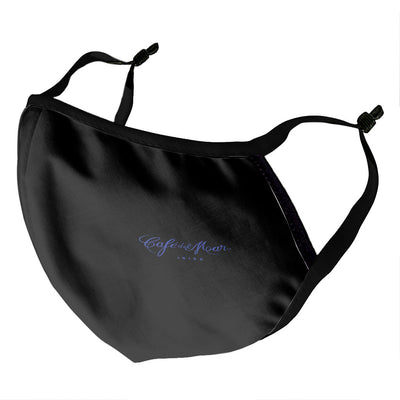 Café del Mar Ibiza Blue Logo On Black Adult's Face Mask-Café Del Mar Ibiza Store
