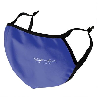 Café del Mar Ibiza White Logo On Blue Adult's Face Mask-Café Del Mar Ibiza Store