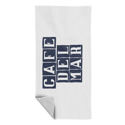 Café del Mar Blue Vertical Tile Logo Beach Towel-Café Del Mar Ibiza Store