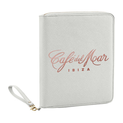 Café del Mar Rose Gold Logo Boutique Leather Look Travel And Tech Organiser-Café Del Mar Ibiza Store