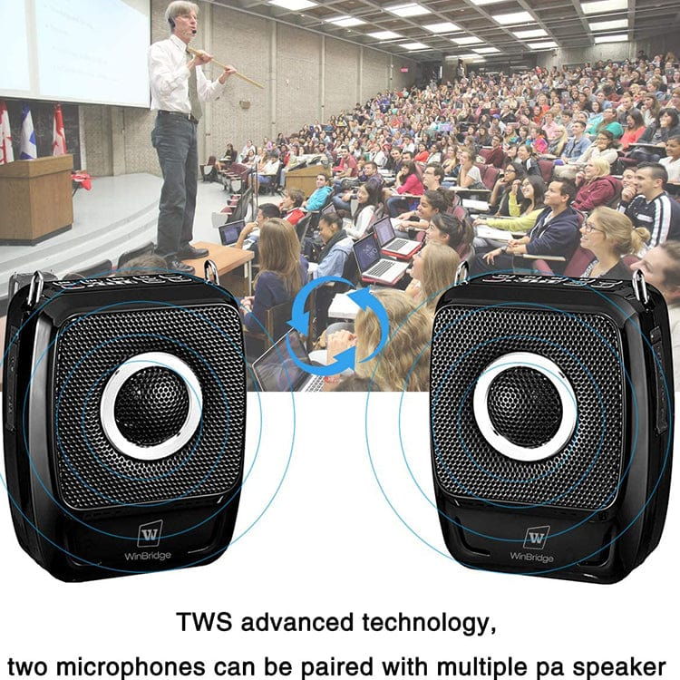 Portable Voice Amplifier S92 Plus Hands Free With Two Headset UHF Microphones 25W