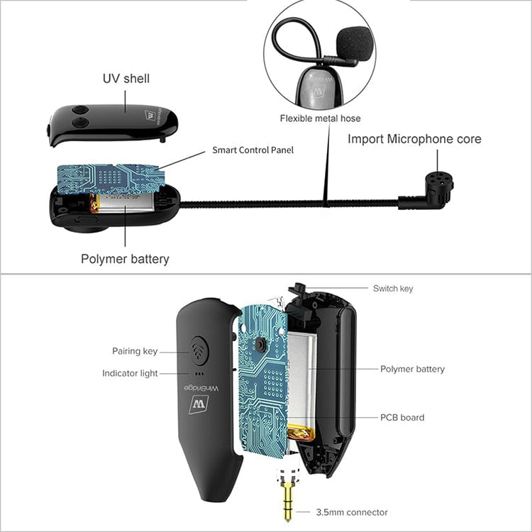 WinBridge Multifunctional Wireless Microphone Headset  U8 Pro Free Shipping