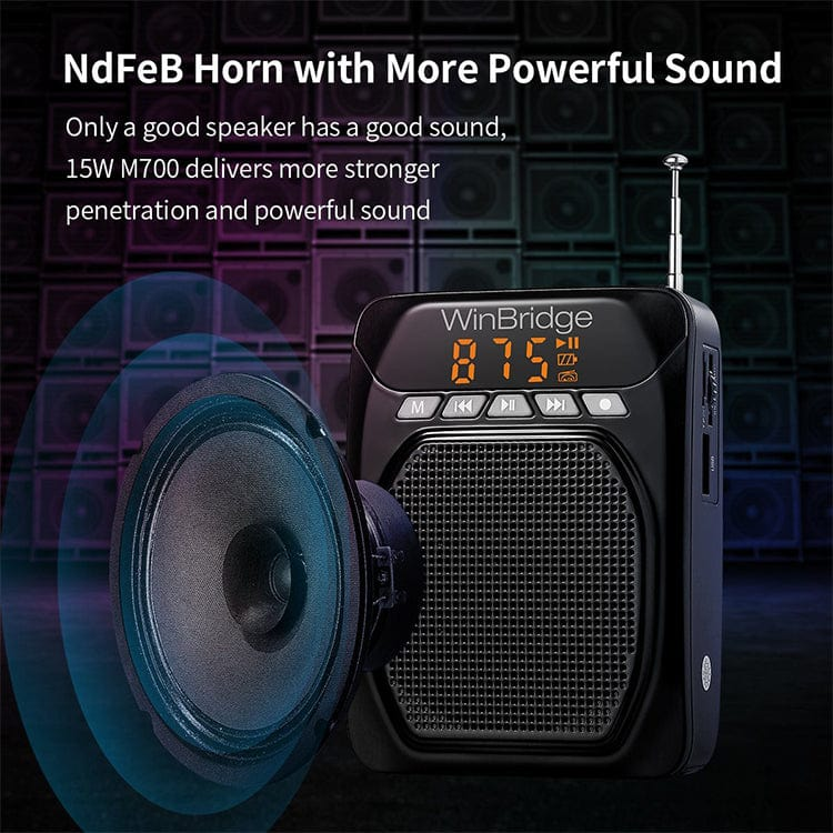 Portable Voice Amplifier Speaker M700 With Bluetooth FM for teachers
