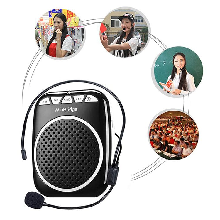 Portable Voice Amplifier Speaker WB001 Rechargeable Ultralight For Teachers Free Shipping