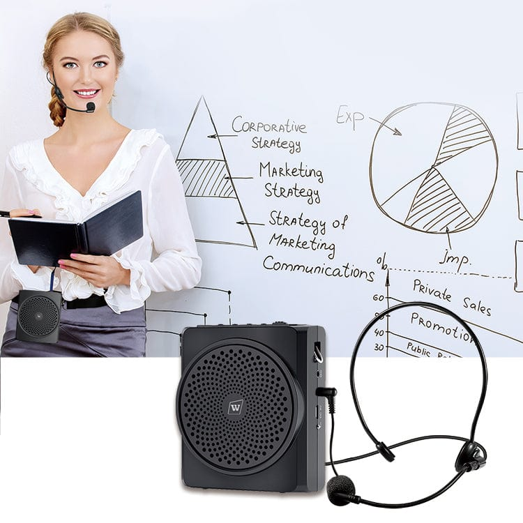 Portable Voice Amplifier S619 With Headset Mic Wired 16W for Teachers Free Shipping