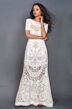 Load image into Gallery viewer, Lacy Pattern Maxi Dress