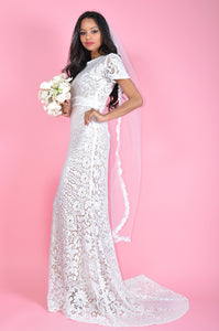 Mirage White Fully Lined Wedding Dress