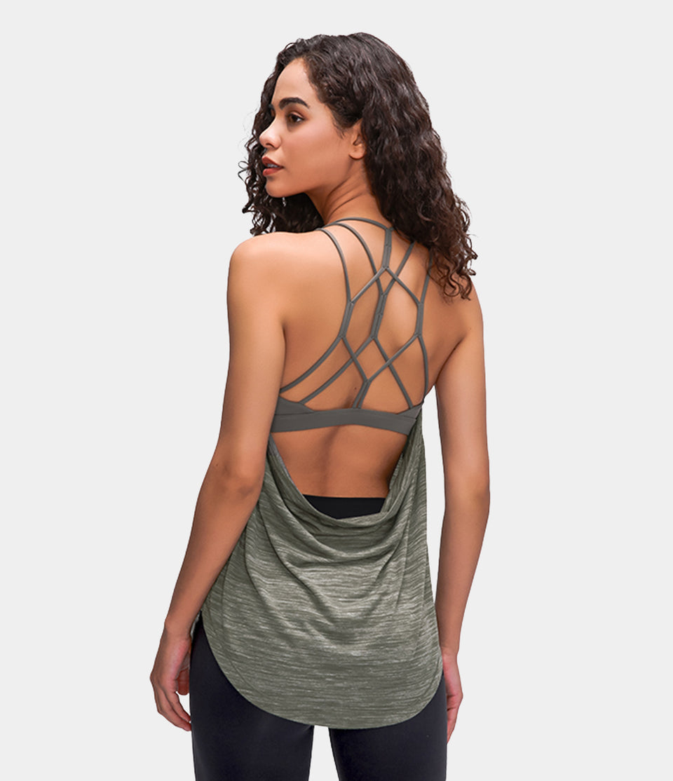 Bloom, Open Up Open Back Crisscross Tank Top