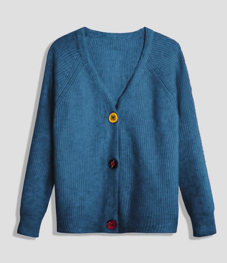 Solid Color Cardigan