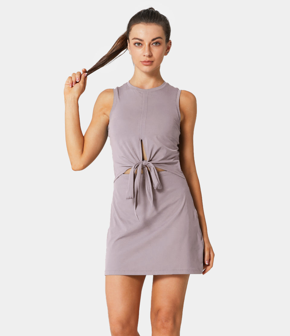 In My Feels Tie-Up Tank Dress