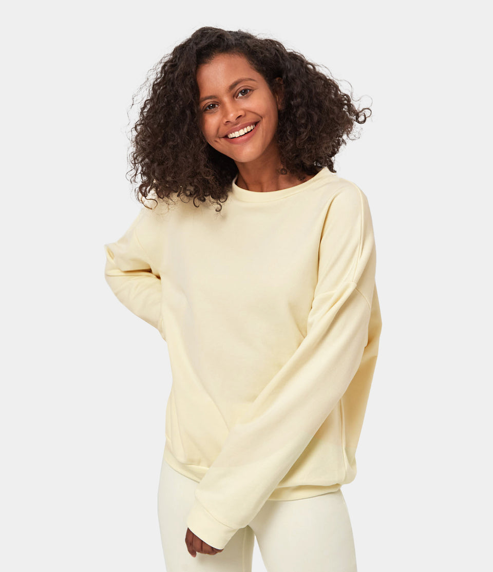 Sweatshirt & Biker Shorts Loungewear Set