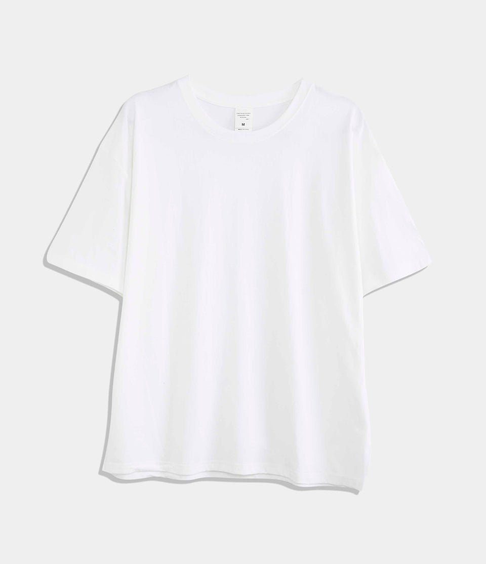 Solid-Color Casual T-shirt