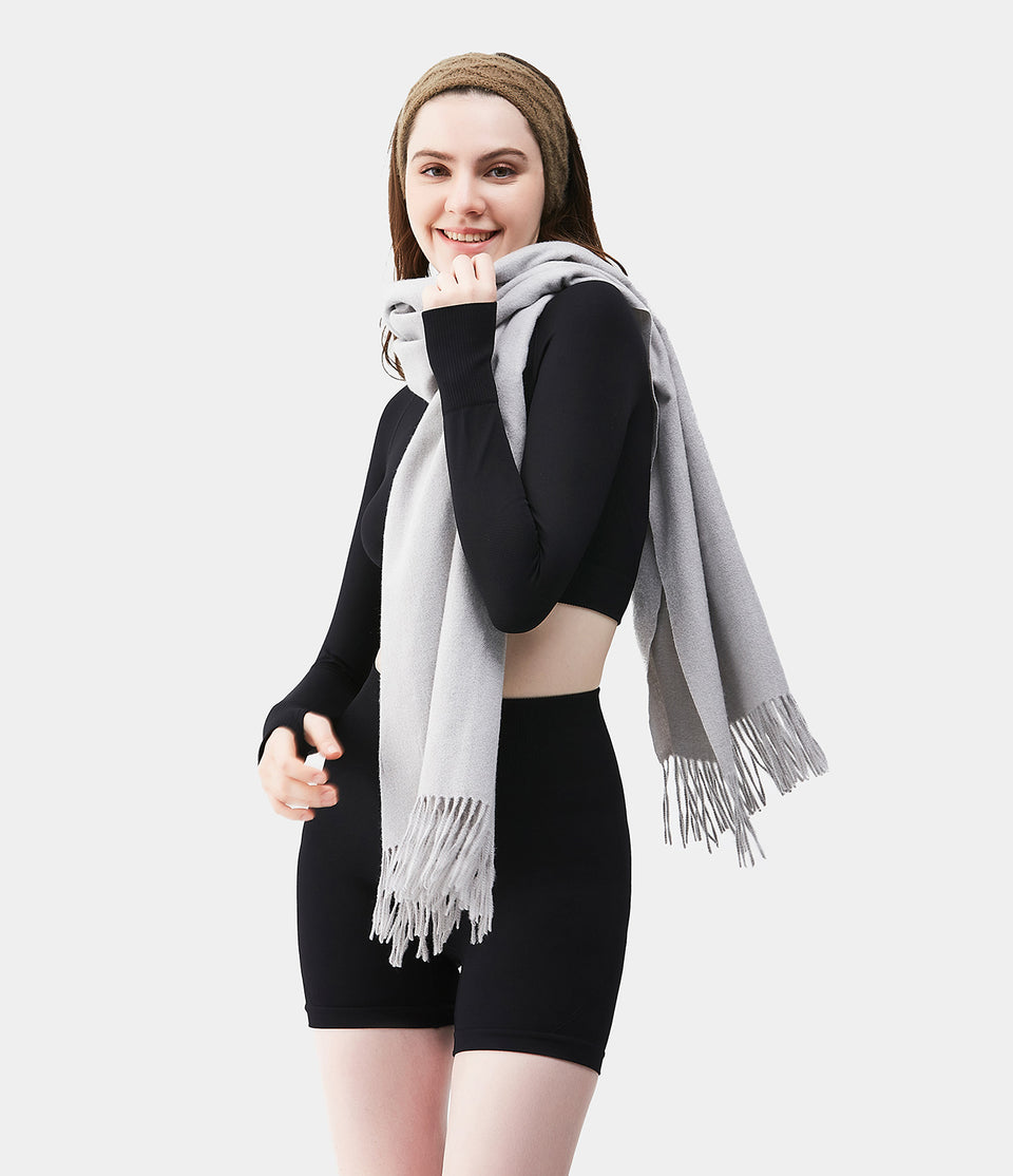 Solid-Color Scarf