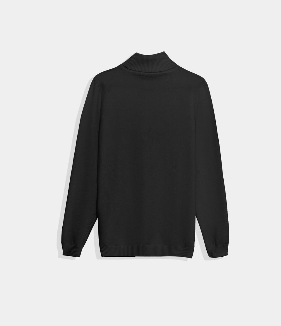 Solid-Color Turtleneck Sweater