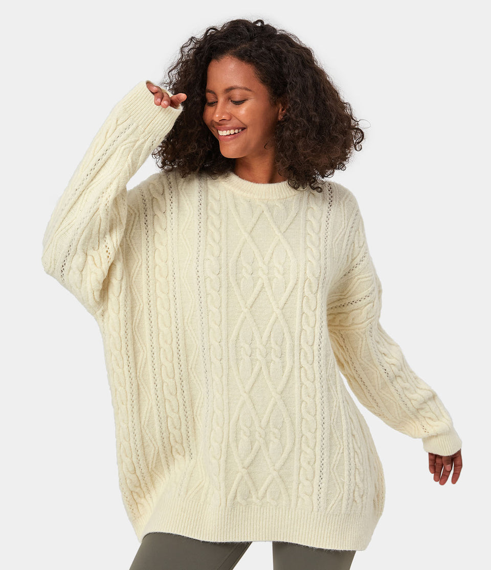 Longline Cable Knitted Sweater
