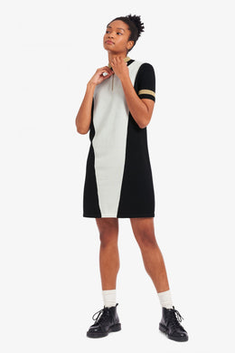 Fred Perry Panelled Knitted Dress