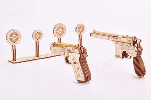 Mechanical Model - Shooting Range Pistols Gun Set