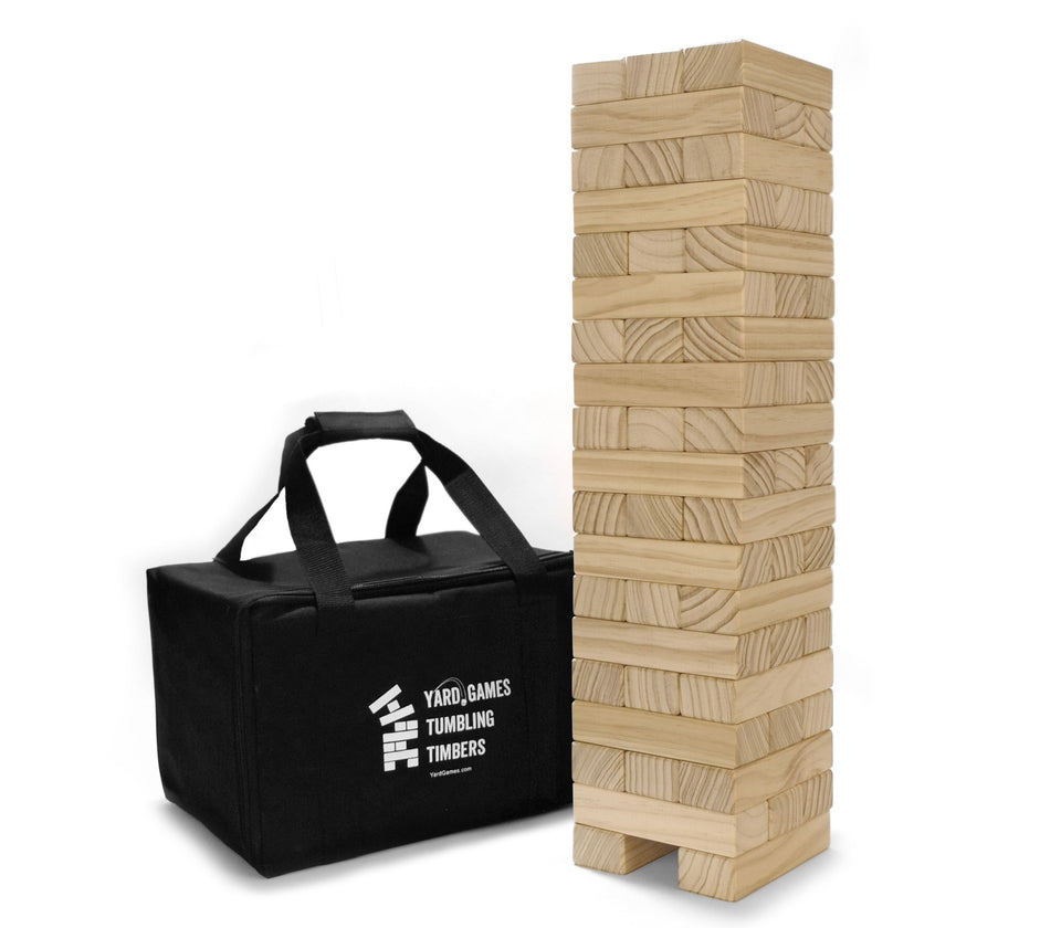 Yard Games - Large Tumbling Timbers with Carrying Case