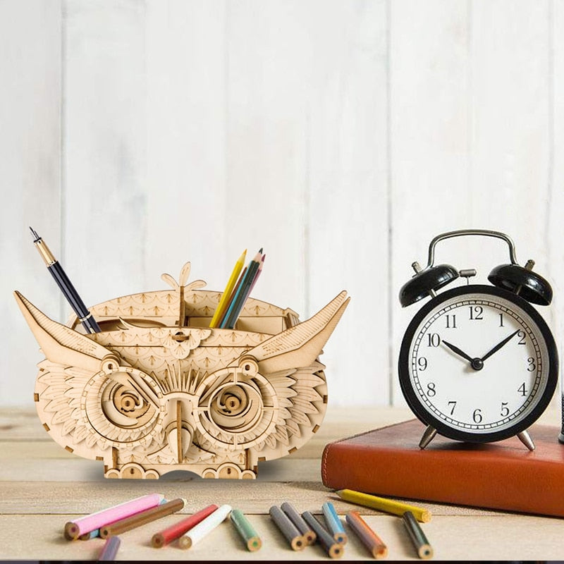 3D Puzzle - Owl Pen Holder