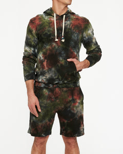 SOL ANGELES OLIVE MARBLE PULLOVER HOODIE