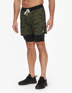 "VUORI STOCKTON SHORT 6.5"" - LINED - OLIVE CAMO"