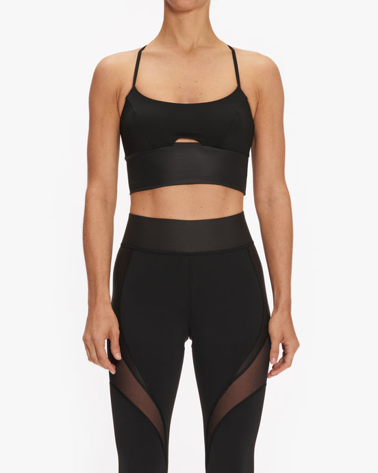 MICHI ALBA CROP TOP SPORTS BRA