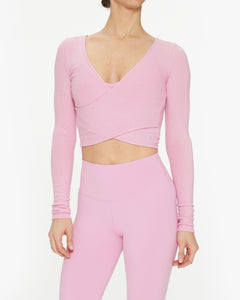 ALO YOGA AMELIA LUXE LONG SLEEVE CROP